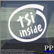 1 x TSI Inside-Window,Car,Van,Sticker,Sign,Vehicle,Turbo,Charged,Super,Charge